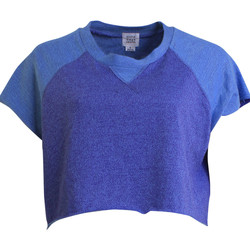 T-shirts manches courtes Somedays Lovin Cropped Top  Hey Eugene Bleu Femme