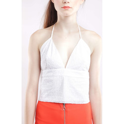 Vêtements Femme Tops / Blouses Somedays Lovin Cropped Top  Field Sparrow Blanc Femme Blanc