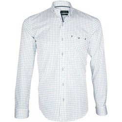 Vêtements Homme Chemises manches longues Emporio Balzani chemise vichy agostino blanc Blanc