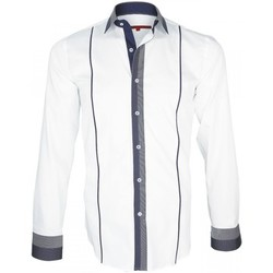 Chemises manches longues Andrew Mc Allister chemise bi-matiere iksby blanc