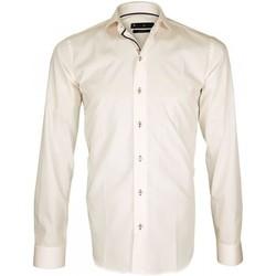 Vêtements Homme Chemises manches longues Emporio Balzani chemise col italien adino rose Rose