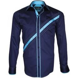 Vêtements Homme Chemises manches longues Emporio Balzani chemise mode lazzio bleu Bleu