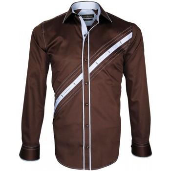 Vêtements Homme Chemises manches longues Emporio Balzani chemise mode lazzio marron Marron