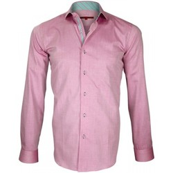 Vêtements Homme Chemises manches longues Andrew Mac Allister chemise a courdieres elbow rose Rose