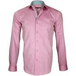 Vêtements Homme Chemises manches longues Andrew Mc Allister chemise a courdieres elbow rose Rose