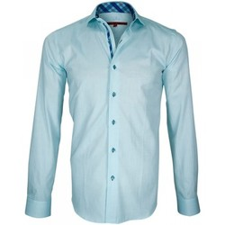 Vêtements Homme Chemises manches longues Andrew Mac Allister chemise a courdieres elbow turquoise Turquoise
