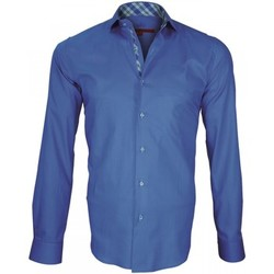 Vêtements Homme Chemises manches longues Andrew Mc Allister chemise a courdieres elbow bleu Bleu