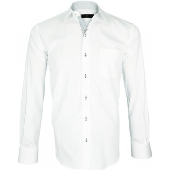 Vêtements Homme Chemises manches longues Emporio Balzani chemise blanche mode tino blanc Blanc