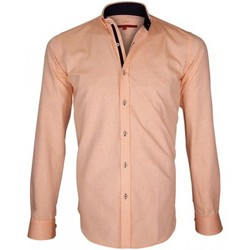 Vêtements Homme Chemises manches longues Andrew Mc Allister chemise oxford brookes orange Orange