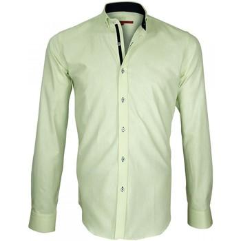 Vêtements Homme Chemises manches longues Andrew Mc Allister chemise oxford brookes vert Vert