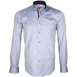 Vêtements Homme Chemises manches longues Andrew Mc Allister chemise oxford brookes bleu Bleu