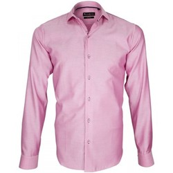 Chemises manches longues Emporio Balzani chemise tissu armure porfirio rose