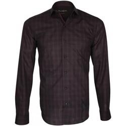 Vêtements Homme Chemises manches longues Emporio Balzani chemise tartan porfirio noir Noir
