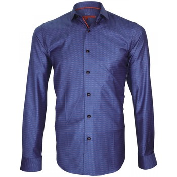 Chemises manches longues Andrew Mc Allister chemise twill armure hasting bleu