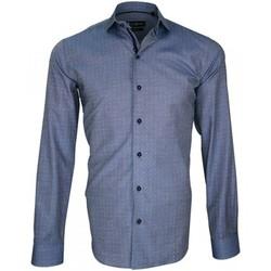 Vêtements Homme Chemises manches longues Emporio Balzani chemise en twill ginger bleu Bleu