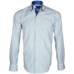 Chemises manches longues Emporio Balzani chemise a courdiere donizzo bleu