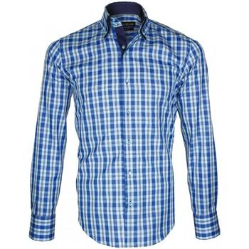 Vêtements Homme Chemises manches longues Emporio Balzani chemise a courdieres donizzo bleu Bleu