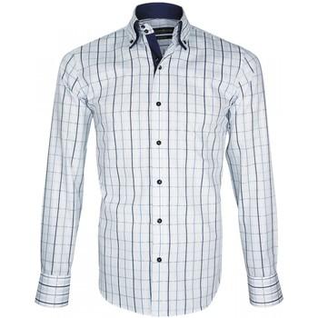 Vêtements Homme Chemises manches longues Emporio Balzani chemise a courdieres donizzo blanc Blanc