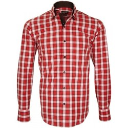 Vêtements Homme Chemises manches longues Emporio Balzani chemise a courdiere donizzo rouge Rouge