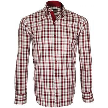 Vêtements Homme Chemises manches longues Emporio Balzani chemise a courdiere donizzo bordeaux Bordeaux
