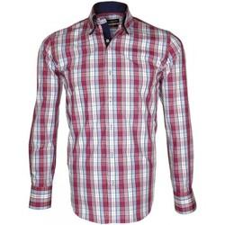 Chemises manches longues Emporio Balzani chemise tartan donizzo bordeaux