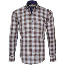 Vêtements Homme Chemises manches longues Emporio Balzani chemise a coudieres donizzo marron Marron