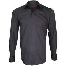 Vêtements Homme Chemises manches longues Andrew Mc Allister chemise double fil 100/2 business gris Gris