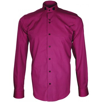 Chemises manches longues Emporio Balzani chemise col officier punto rose