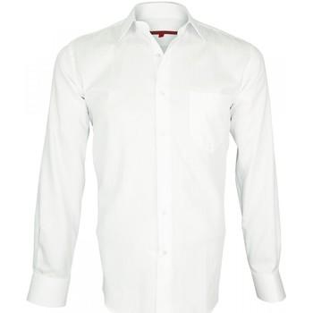 Vêtements Homme Chemises manches longues Andrew Mc Allister chemise armuree double fil 120/2 business blanc Blanc