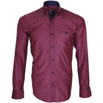 Vêtements Homme Chemises manches longues Emporio Balzani chemise bucheron scorso rose Rose