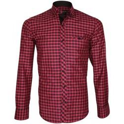 Chemises manches longues Emporio Balzani chemise bucheron scorso rose