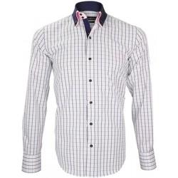 Vêtements Homme Chemises manches longues Emporio Balzani chemise double col doppio blanc Blanc