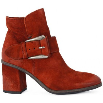 Chaussures Femme Bottines Kammi MYUS POLACCO IN PELLE Rosso