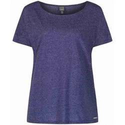Vêtements Femme T-shirts manches courtes Bench T-shirt  Wrap Bl085x Dark Blue Marl Bleu Marine