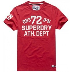 Vêtements Homme T-shirts manches courtes Superdry T-shirt  Trackster S/s Tee Indiana Red Rouge