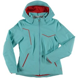 Vêtements Femme Coupes vent Spyder Veste De Ski  Project Freeze / White / Burst Cyan