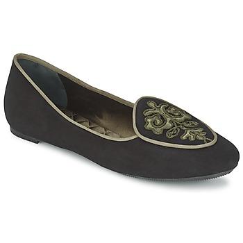 Chaussures Femme Ballerines / babies Etro 3059 Noir / Kaki