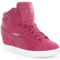Chaussures Femme Baskets montantes Puma Vikky Wedge Bordeaux