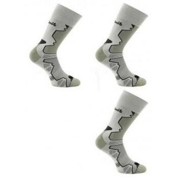 Accessoires Homme Chaussettes Thyo 2 paires + 1 gratuite de chaussettes Double-Trek pour randonnée Kaki