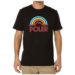 T-shirts manches courtes Poler T-shirt  Mountain Rainbow Tee Black