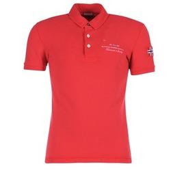 Vêtements Homme Polos manches courtes Napapijri ELBAS Rouge