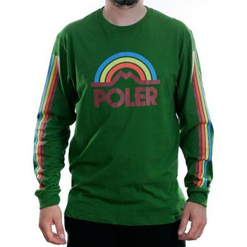 T-shirts manches longues Poler T-shirt Manches Longues  Mtn Rainbow Tee Grass