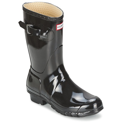 Bottes Hunter WOMEN'S ORIGINAL SHORT GLOSS Noir 350x350