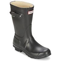 Chaussures Femme Bottes de pluie Hunter WOMEN'S ORIGINAL SHORT Noir