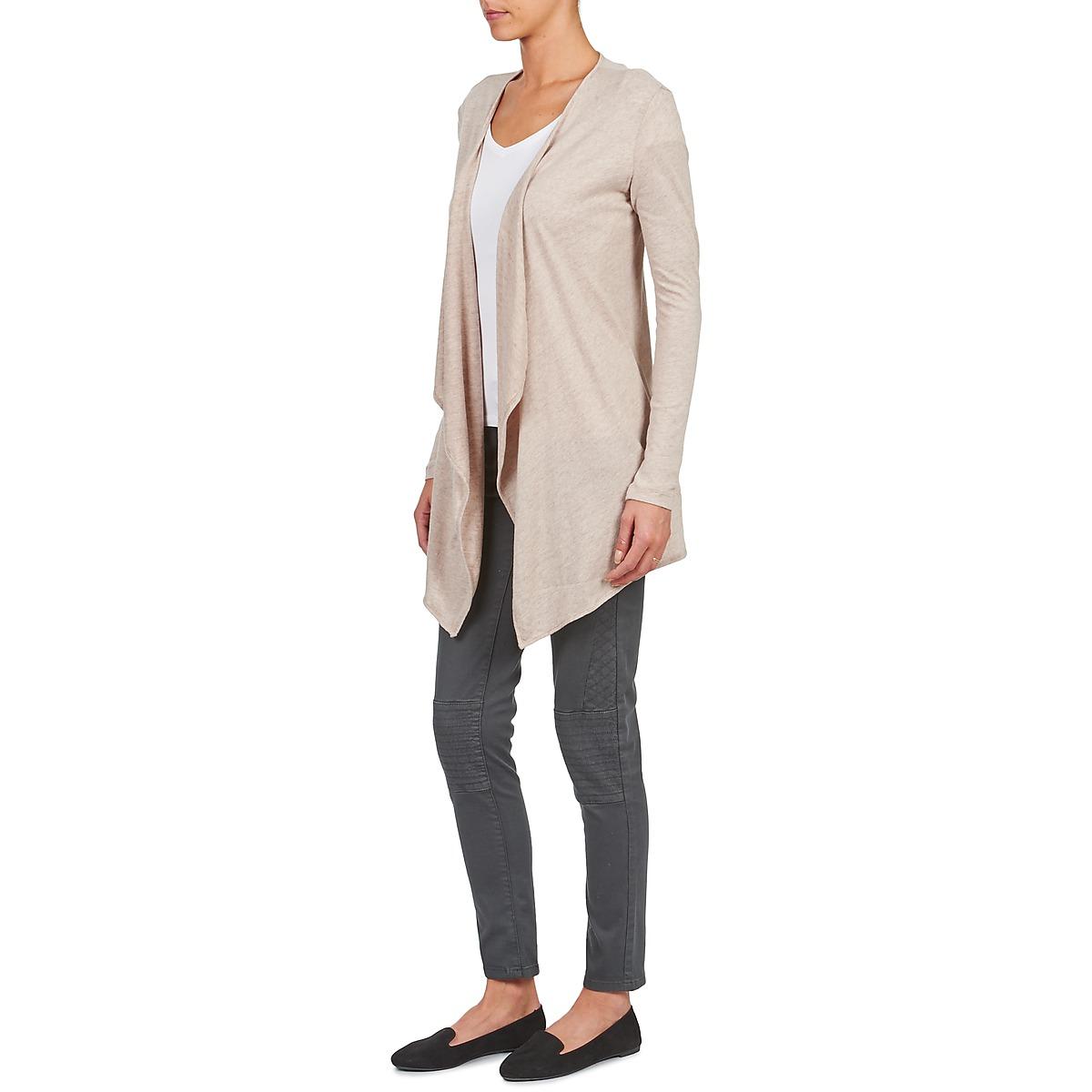Majestic 518 Beige - Livraison Gratuite Vêtements Gilets / Cardigans Femme 109,60 €