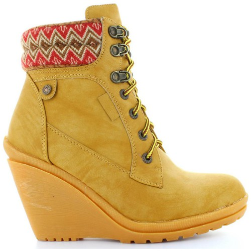Chaussures Femme Bottines Refresh 61500 Beige