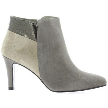 Chaussures Femme Bottines Reqin's Boots cuir velours Vison