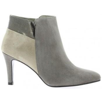 Chaussures Femme Bottines Reqins Boots cuir velours Vison