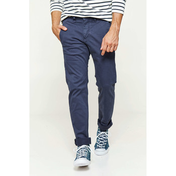 Vêtements Homme Pantalons 5 poches Franklin & Marshall Pantalon Chino Franklin&marshall Bart Slim Bleu Homme Bleu