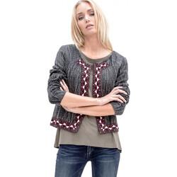 Vêtements Femme Gilets / Cardigans Le Temps des Cerises Veste  Mariela Dark Ash Grey 35